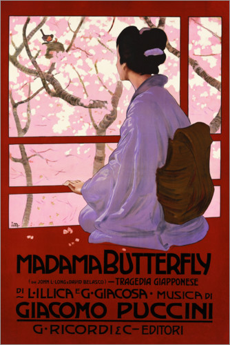 Premium-plakat Puccini, Madame Butterfly