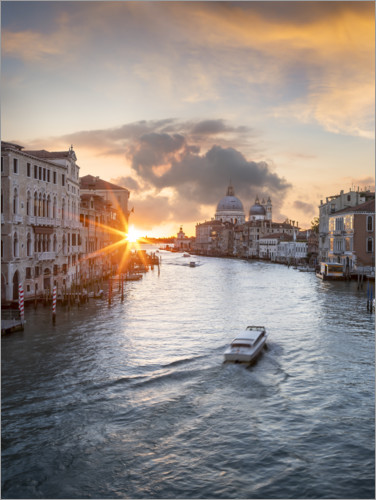 Premium-plakat Grand Canal at sunset, Venice