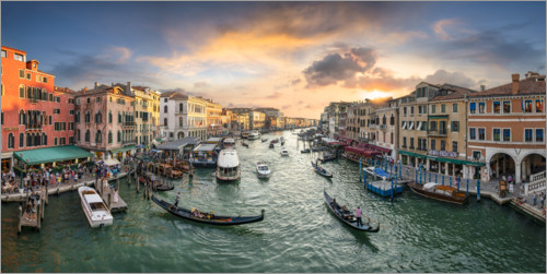 Premium-plakat Sunset over the Grand Canal