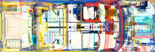 Premium-plakat X-ray picture of a car