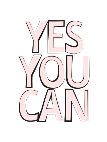 Premium-plakat Yes You Can
