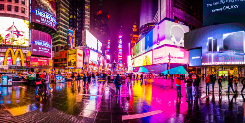 Premium-plakat Times Square New York after the rain
