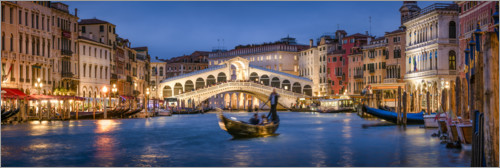 Premium-plakat Rialto Bridge and Grand Canal