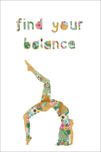 Premium-plakat Find your balance