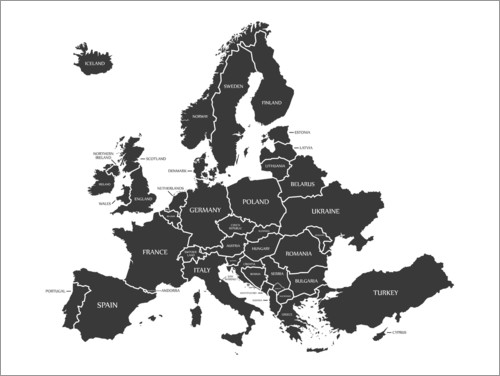 Premium-plakat Modern map of Europe