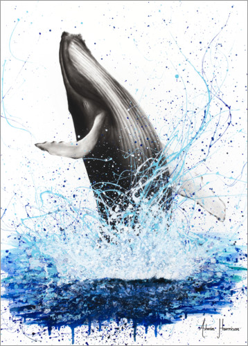 Premium-plakat Whale breaks to the surface