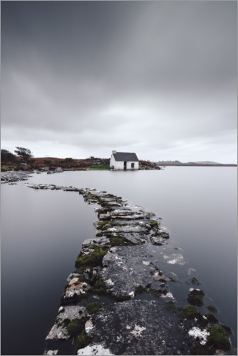 Premium-plakat A fisherman´s hut in the endless wilderness of Connemara Ireland