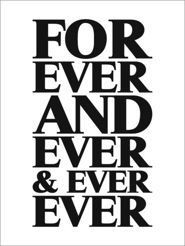 Premium-plakat Forever And Ever
