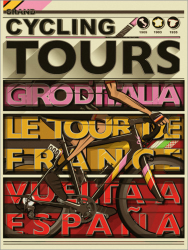 Premium-plakat Cycling Grand Tours