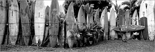 Premium-plakat A fence made of surfboards II