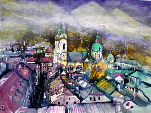 Premium-plakat View to Innsbruck Cathedral