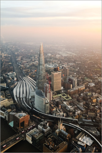 Premium-plakat The Shard at sunset from the top, London, UK