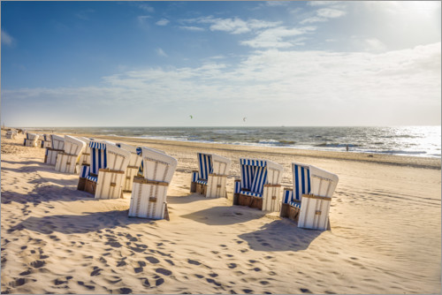 Premium-plakat Beach chairs in the sunset, Sylt