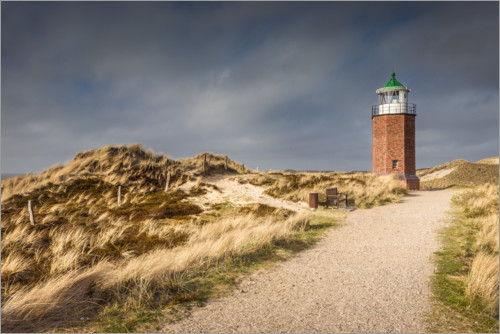 Premium-plakat Lighthouse on the Red Cliff, Sylt