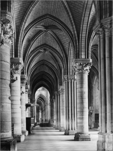 Premium-plakat Interior view of the cathedral Notre Dame