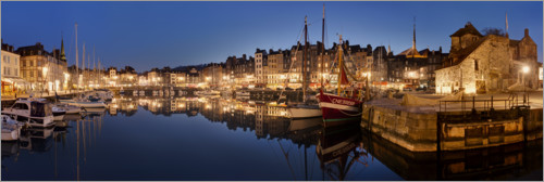 Premium-plakat Old town and harbor of Honfleur, Normandy
