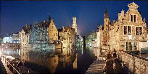 Premium-plakat The old town of Bruges