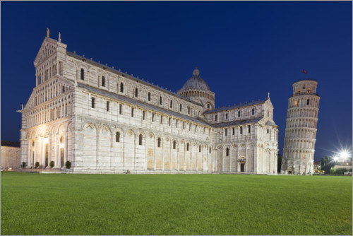 Premium-plakat Cathedral and Leaning Tower of Pisa
