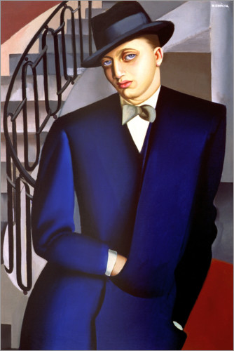 Premium-plakat Portrait of the Marquis of Afflitto in the staircase, 1926