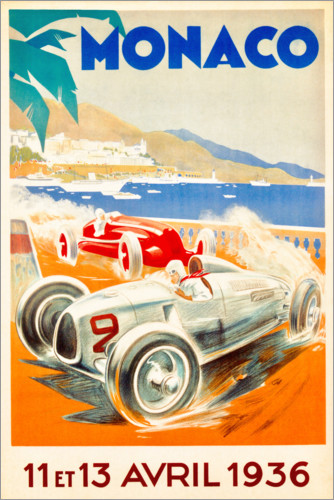 Premium-plakat Grand Prix of Monaco 1936 (French)