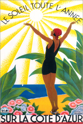 Premium-plakat On the French Riviera (French)