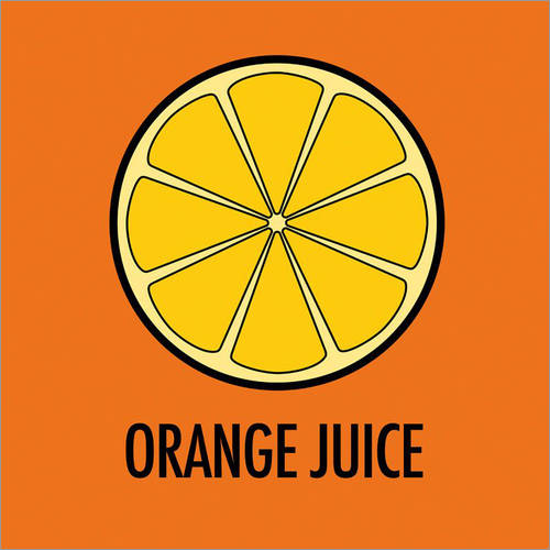 Selvklæbende plakat Orange Juice