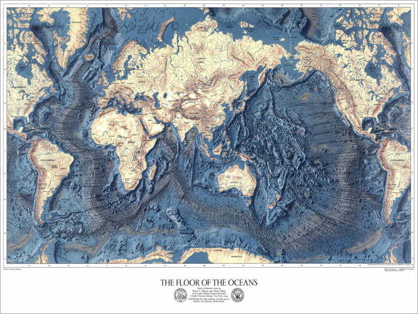 Premium-plakat The floor of the oceans