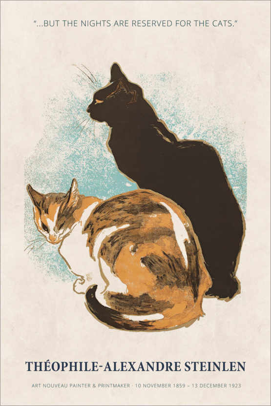 Premium-plakat Théophile-Alexandre Steinlen - Reserved for the cats