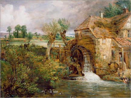 Galleritryk  Mill in Gillingham - John Constable