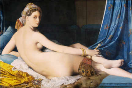 Print på skumplade  The Great Odalisque - Jean Auguste Dominique Ingres
