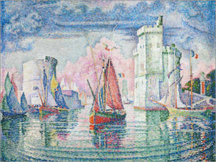 Print på træ  The Port at La Rochelle - Paul Signac