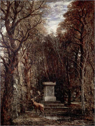 Galleritryk  The Cenotaph to Reynold's Memory - John Constable