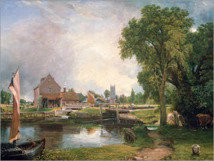 Selvklæbende plakat  Dedham Lock and Mill - John Constable