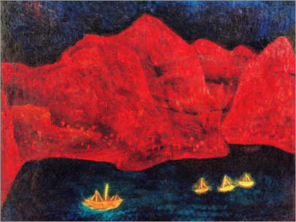 Lærredsbillede  Southern Coast at Evening - Paul Klee