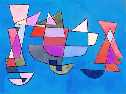 Galleritryk  Sailing Boats - Paul Klee