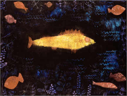Print på træ  The Goldfish - Paul Klee