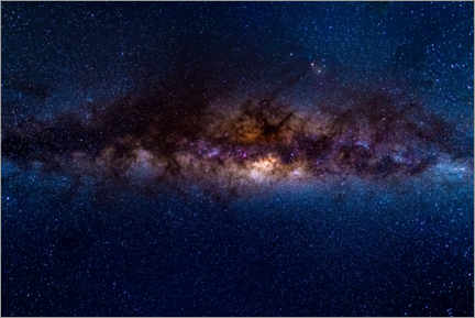 Lærredsbillede  The Milky Way galaxy, details of the colorful core. - Fabio Lamanna