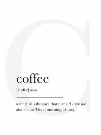 Akrylbillede  Coffee definition - Finlay and Noa