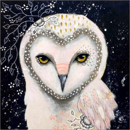Lærredsbillede  Melody of the owl - Micki Wilde