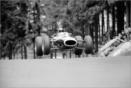 Lærredsbillede  Jackie Stewart at Brunnchen, Nürburgring, German GP 1966