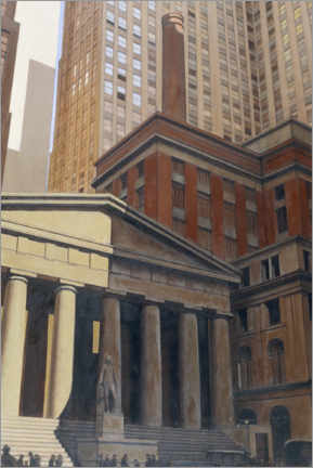 Premium-plakat View of Wall Street (Federal Hall)