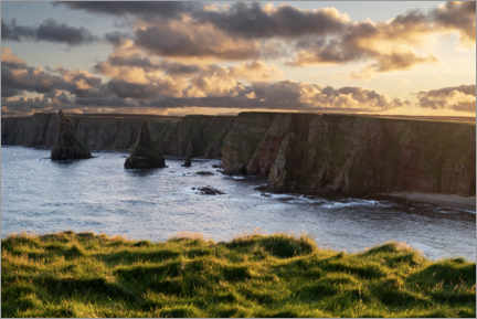 Galleritryk  Cliffs in the sunset - The Wandering Soul