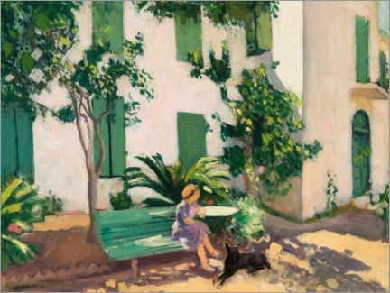 Galleritryk  Rest in front of the house - Albert Marquet
