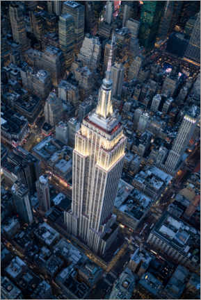 Lærredsbillede  Empire State Building aerial view - Jan Christopher Becke