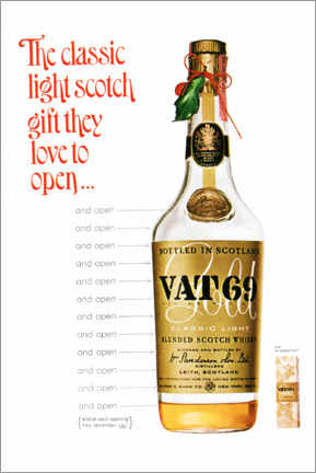 Lærredsbillede  Vat 69 - Advertising Collection