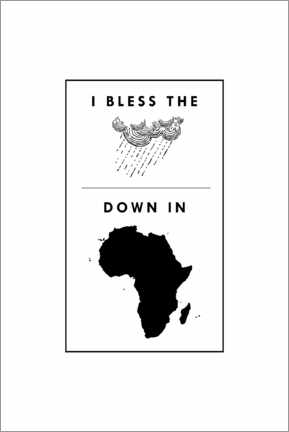 Akrylbillede  I bless the rains down in africa - Typobox