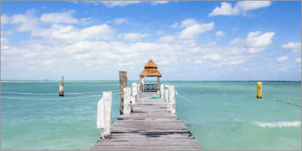 Akrylbillede  Jetty on the Caribbean sea - Matteo Colombo