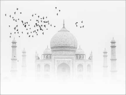 Lærredsbillede  Birds over the Taj Mahal - Thomas Herzog