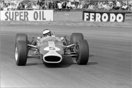 Lærredsbillede  Jim Clark, Lotus 49 Ford, Silverstone UK, 1967