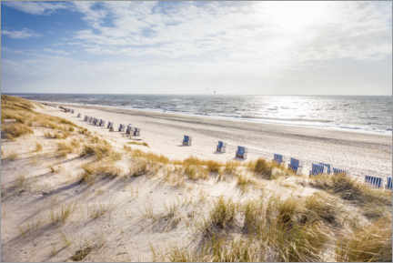 Lærredsbillede  Beach chairs on Sylt beach - Christian Müringer